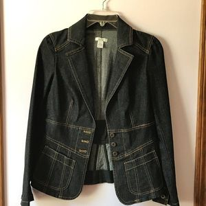 Denim fitted jacket from Cache